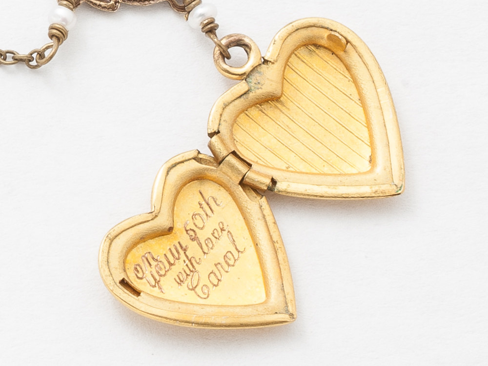 com yellow locket engraved filled amazon dp lockets heart gold quot