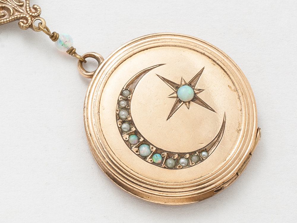 cln lockets opal locket ebay rose collection hallmark stunning s chester on gold no reserve