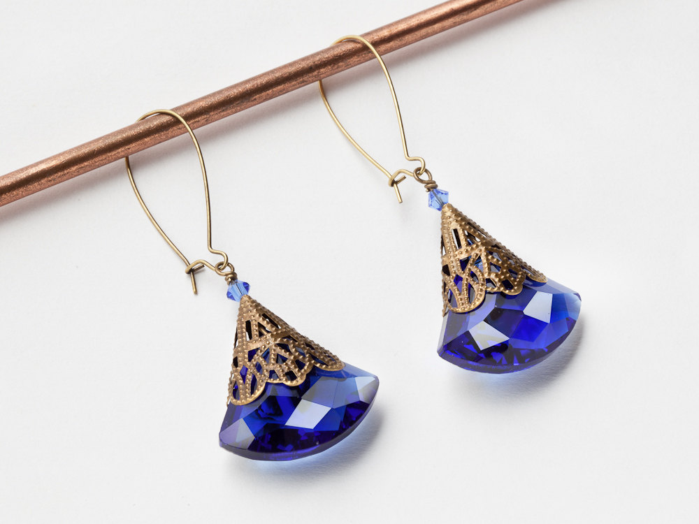 earrings il glass blue gallery cobalt photo sea fullxfull listing