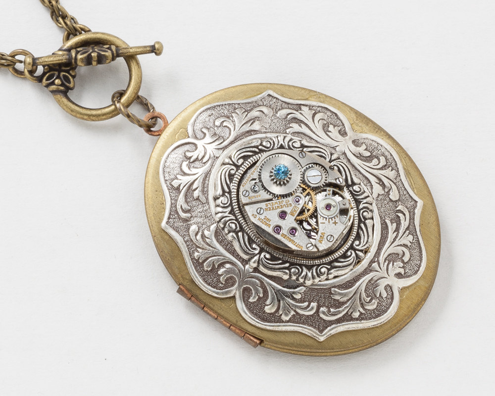 i lockets vintage shop watch carved locket love watches quartz rose necklace