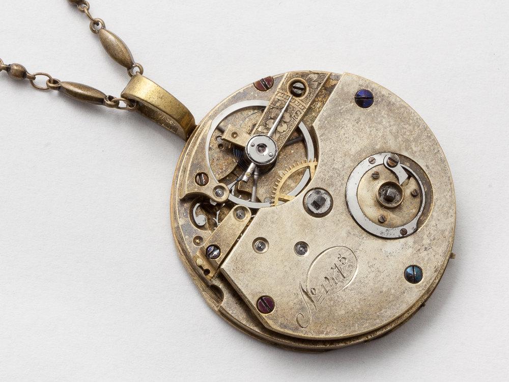 Vintage watch pendant necklace unisex jewellery necklace steampunk vintage watch pendant necklace unisex jewellery necklace steampunk necklace authentic clockwork unisex pendant jewelry aloadofball Image collections