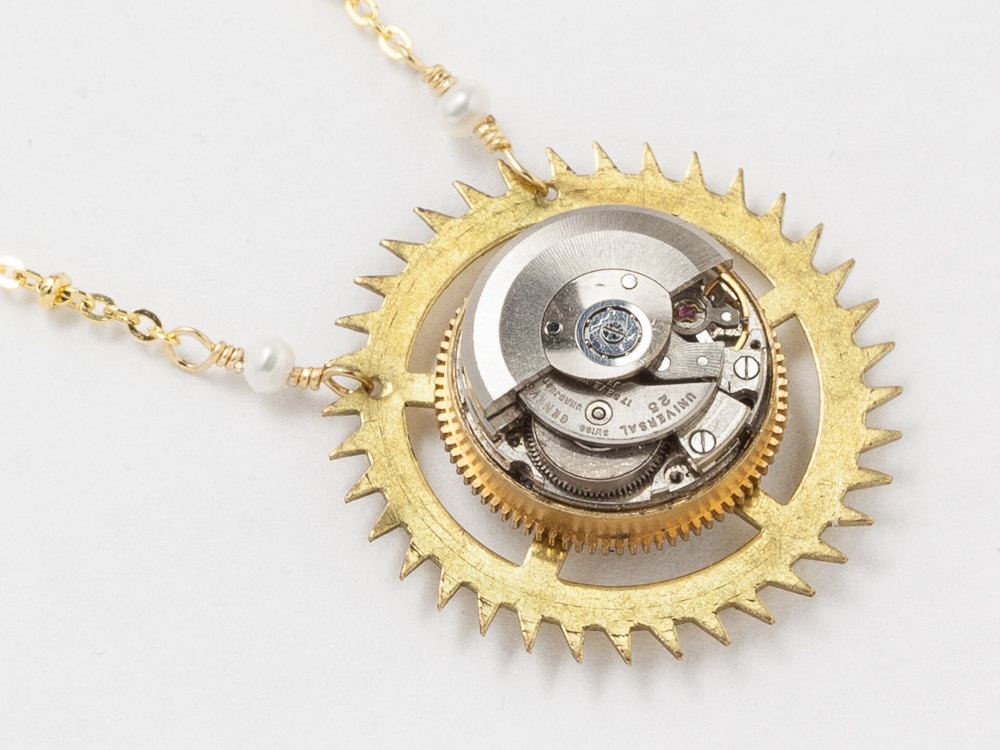 asymmetric products clockwork dsc knittingmetal necklace lucid