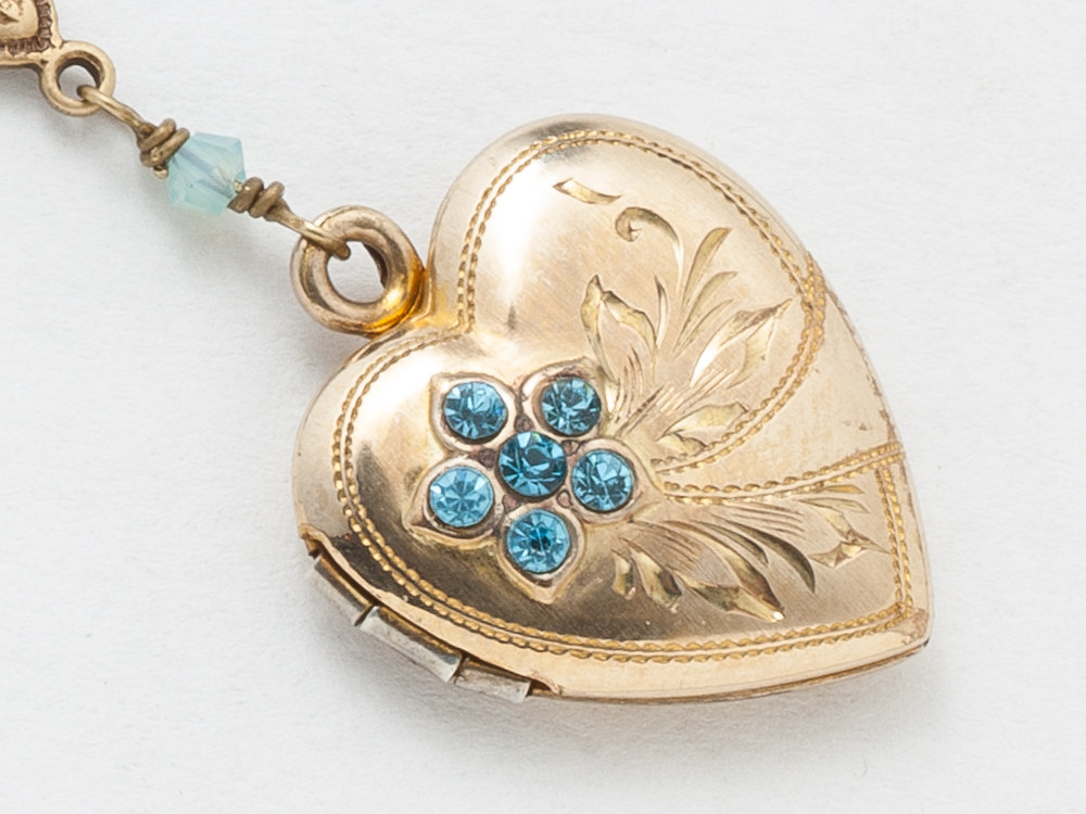 gifts brass opal style antique for locket necklace pin vintage secret lockets