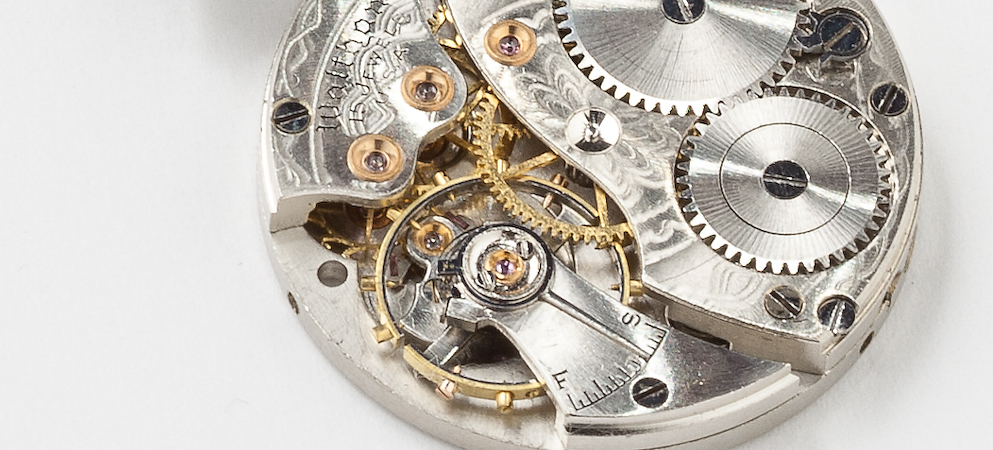 Steampunk Watch Necklace With Vintage Waltham Pocket Watch
